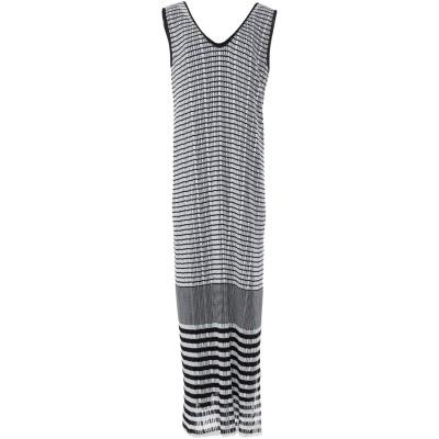MYF ロングワンピース&ドレス ホワイト M レーヨン 75% / ポリエステル 25% ロングワンピース&ドレス