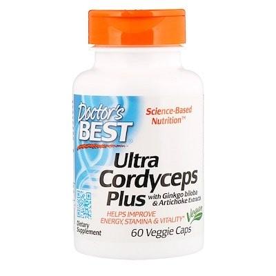 Ultra Cordyceps Plus、植物性カプセル 60 粒