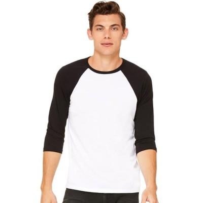 ユニセックス 衣類 トップス Bella + Canvas Unisex Jersey 3/4 Sleeve Baseball T-Shirt - C3200 Tシャツ