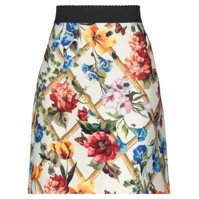 ドルチェ & ガッバーナ DOLCE & GABBANA ひざ丈スカート アイボリー 42 ウール 71% / シルク 29% ひざ丈スカート