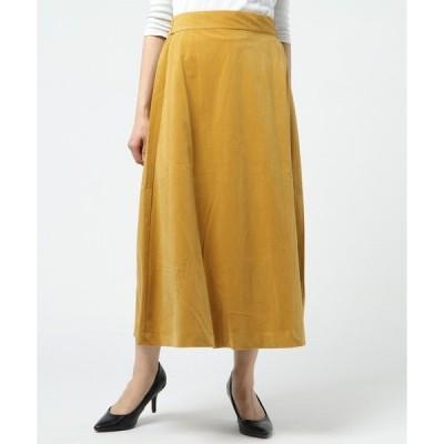 スカート 別珍フレアスカート