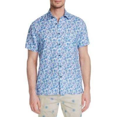 ブルックリン ブリゲイド シャツ トップス メンズ Men's Slim-Fit Plumeria Short Sleeve Shirt Multi
