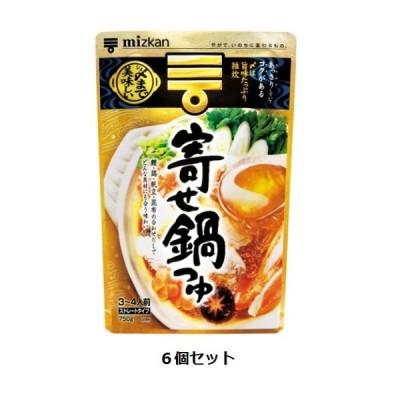 Mizkan 〆まで美味しい寄せ鍋つゆ ストレートタイプ 750g(3〜4人前)×6個