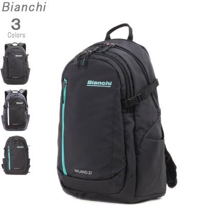 デイパック 抗菌ポケット装備モデル クロ コン クロ/ブルー Attivo アティーボ Bianchi ビアンキ ビジネスリュック 送料無料