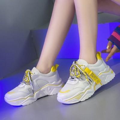 ヒルズスタイル hills style スニーカー 靴 シューズ カジュアル スポーツ (イエロー)