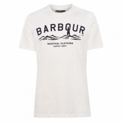 バブアー Barbour Lifestyle メンズ Tシャツ トップス Bressay T-Shirt White WH
