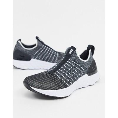 ナイキ レディース スニーカー シューズ Nike Running React phantom sneakers in black