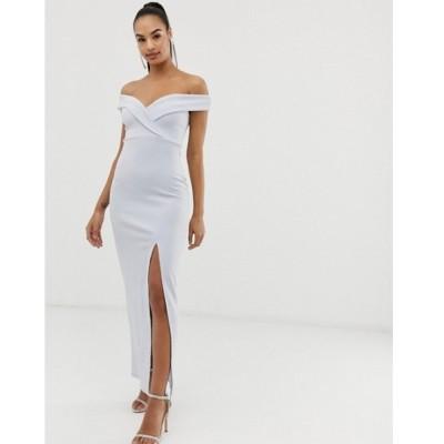 クラブエル レディース ワンピース トップス Club L bridesmaid bardot detail maxi dress