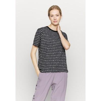 アンダーアーマー シャツ レディース トップス LOGO PRINT LIVE - Print T-shirt - black/white
