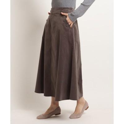 スカート 【S〜Lサイズあり・洗える・後ろウエストゴム】コーデュロイフレアスカート