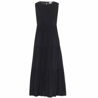 ウールリッチ Woolrich レディース ワンピース マキシ丈 ワンピース・ドレス Cotton maxi dress Black