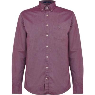 ガント Gant メンズ シャツ ワイシャツ トップス Long Sleeve Oxford Shirt Port