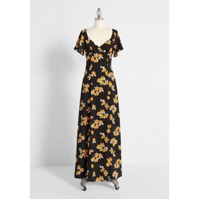 モドクロス ModCloth レディース パーティードレス マキシ丈 ワンピース・ドレス give it your best guest maxi dress black floral