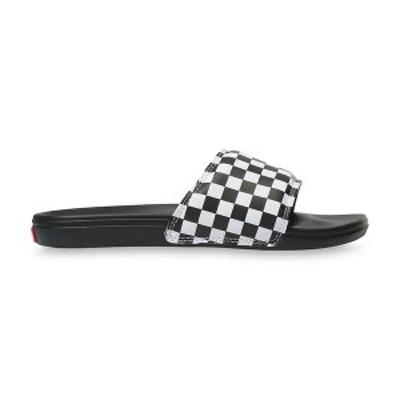 バンズ メンズ サンダル シューズ Vans Men's La Costa Slide Checkerboard/True White/Black