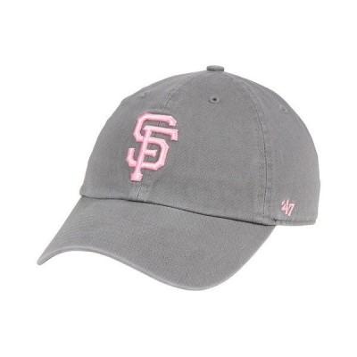 47ブランド 帽子 アクセサリー レディース San Francisco Giants Dark Gray Pink CLEAN UP Cap DarkGray/Pink