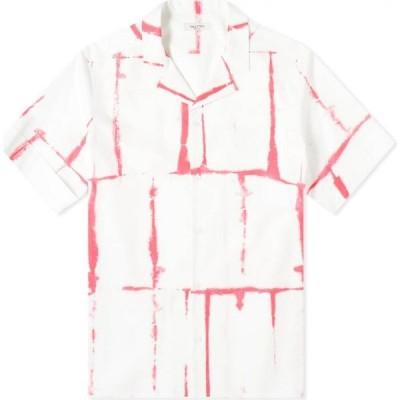 ヴァレンティノ Valentino メンズ 半袖シャツ トップス tie dye grid vacation shirt White/Pink