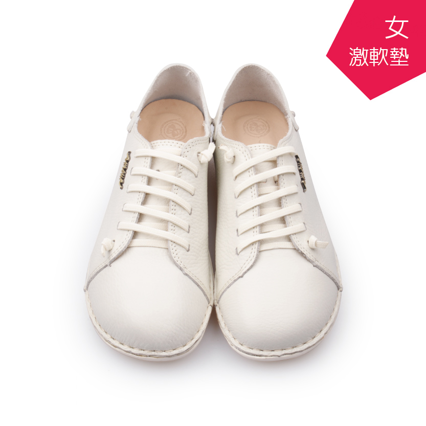 【A.MOUR 經典手工鞋】頂級牛革饅頭鞋 - 全白(2918)