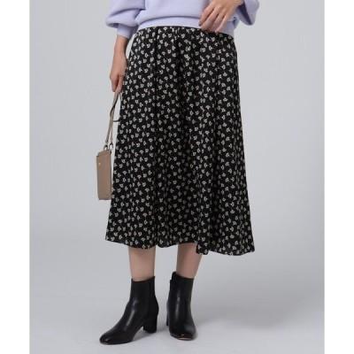 スカート 【洗える】ヴィンテージフローラルプリントスカート