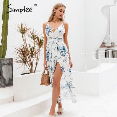 【1月末で販売終了】 スパゲッティ ドレス 休日 フローラル シンプル