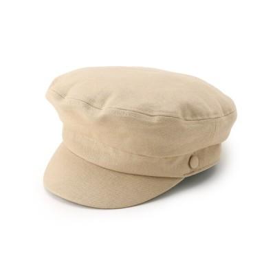 Couture brooch / リネンキャスケット WOMEN 帽子 > キャスケット