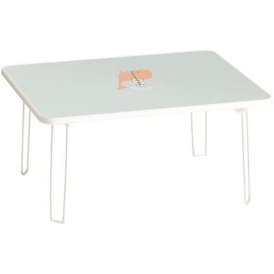 ルームアンドホーム テーブル 折りたたみ 北欧 デザイン 小 クジラ ブルー 40×48×31cm