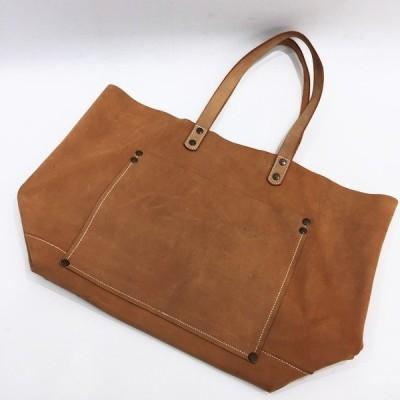 YEVS (イーブス) 【men5041】 本革 レザートートバッグ 鞄 メンズ ブラウン OC