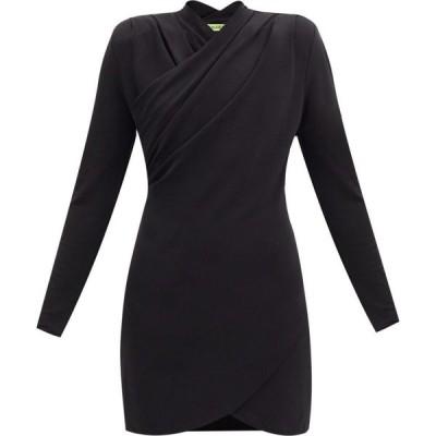 ゲージ81 GAUGE81 レディース パーティードレス ミニ丈 ワンピース・ドレス Tyver wrap-front crepe-jersey mini dress Black