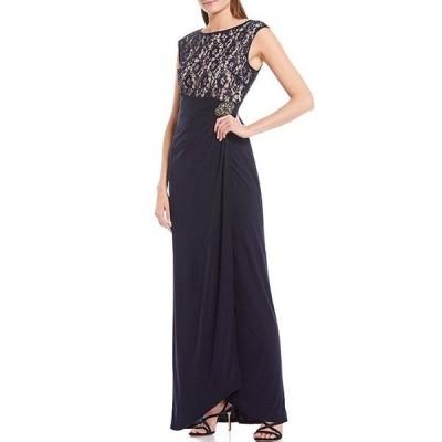 ジェシカハワード レディース ワンピース トップス Sequin Lace Sleeveless Glitter Embellished Dress