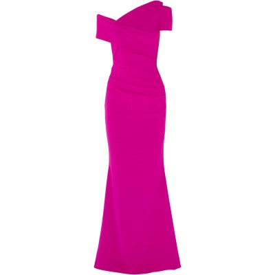 TALBOT RUNHOF ロングワンピース&ドレス フューシャ 32 トリアセテート 71% / ポリエステル 29% ロングワンピース&ドレス