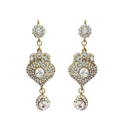 CROWN JEWEL Indian Bollywood Style Fashion Gold Plated Bridal Jewelry