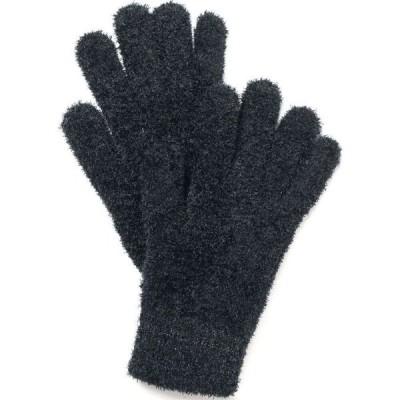 チャータークラブ Charter Club レディース 手袋・グローブ Striped-Cuff Chenille Gloves Black