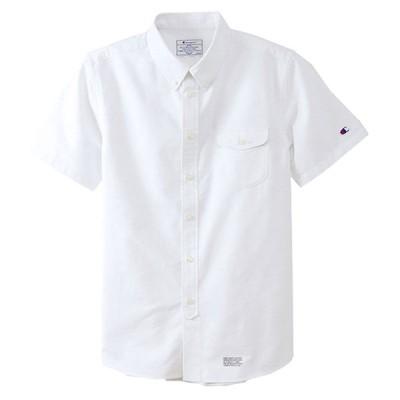 チャンピオン ショートスリーブボタンダウンシャツ C3-M341 ホワイト(010) メンズ Champion SHORT SLEEVE BD SHIRT