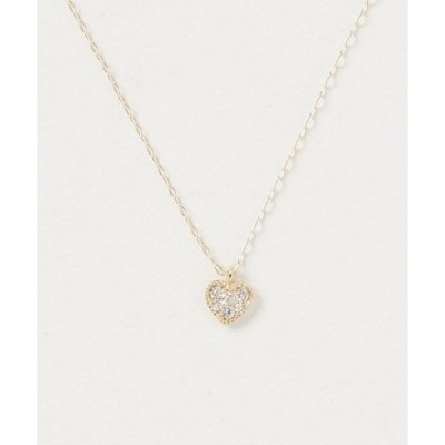 ネックレス K18ダイヤハートネックレス