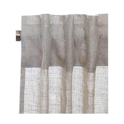 [新品]D'Moksha Homes 100% Pure Hemp Linen Semi Sheer Curtain Natural - 52x96 inch. UV Ray Protection. Indoor, Outdoor use, Living, D