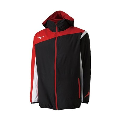 ミズノ(MIZUNO) メンズ レディース テニスウェア ウィンドブレーカーシャツ ブラック 62JE8001 09 テニス ウェア バドミントンウェア ジャケット フーディ