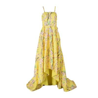 ALLURE ロングワンピース&ドレス イエロー 6 ポリエステル 100% ロングワンピース&ドレス