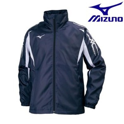 ◆◆ <ミズノ> MIZUNO ブレスサーモウォーマーシャツ[ユニセックス] 32JE7550 (14:ディープネイビー×ホワイト)