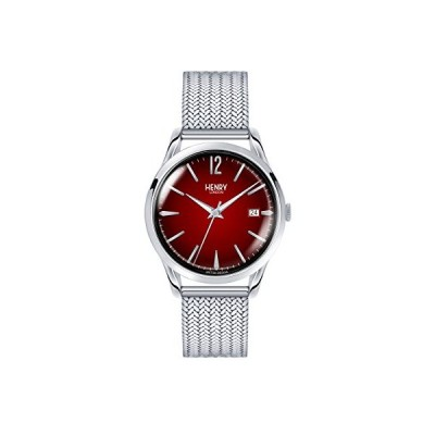 Henry London Unisex-Adult Analogue Classic Quartz Watch with Stainless Steel Strap HL39-M-0097 並行輸入品