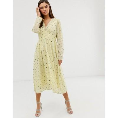 ワイエーエス レディース ワンピース トップス Y.A.S floral long sleeve maxi dress