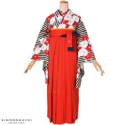 二色 女性袴単品「赤×紺」SS、S、M、L、2L 5サイズ