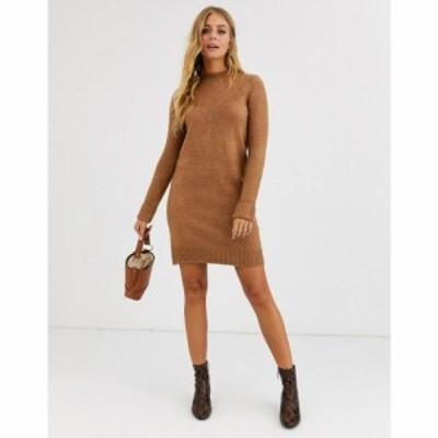 ピンキー Pimkie レディース ワンピース ワンピース・ドレス jumper dress in brown ブラウン