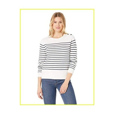 Helly Hansen Women's Skagen Cotton Knit Marine Sweater, Off-White Stripe, Small並行輸入品