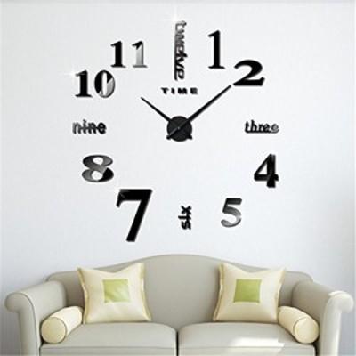 【新品・送料無料】KUWAN手作り DIY 壁時計  ウォールクロック ウォールステッカー  インテリア クロック  室内 部屋装飾 模様替えに