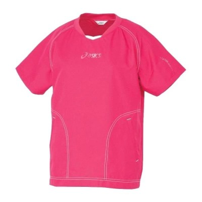 アシックス(asics)レディース  半袖 ウォームアップシャツ XWW704-1701