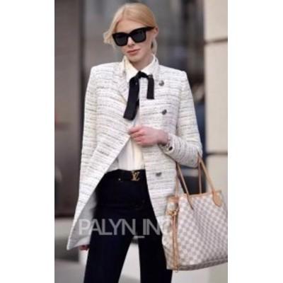 Blazer ブレザー ファッション 衣類 BNWT ZARA ss18 Tweed Clothes Coat Long Jacket Blazer
