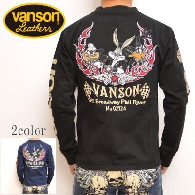 バンソン VANSON ルーニーテューンズ LTV-734 天竺長袖Tシャツ ブラック色 ロンT バッグスバニー コラボ