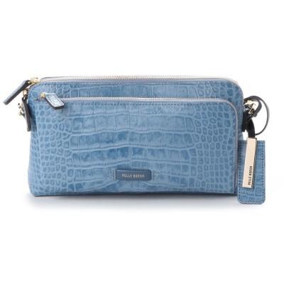 ペレボルサ PELLE BORSA 財布ショルダー (ブルー)