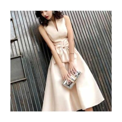 ワンピースドレス パーティードレス 大きいサイズ イブニングドレス 花嫁 お呼ばれ 優雅 ワンピース 二次会 マキシ丈 ノースリーブ かわ小