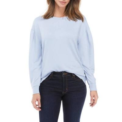 クラウン&アイビー レディース Tシャツ トップス Petite Puff Sleeve Pullover