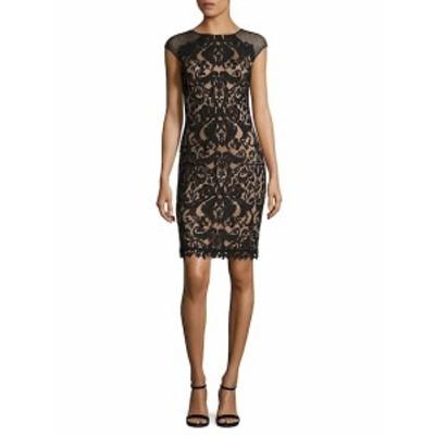 タダシショウジ レディース ワンピース Illusion Lace Sheath Dress